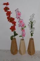 Wazoniki geometryczne dębowe i sosnowe - lite drewno woskowane