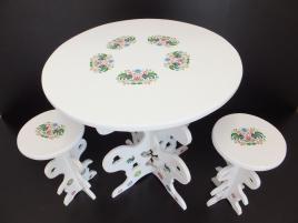 Stół i stołki cepelia