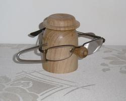 Podstawka pod okulary dębowa - lite drewno woskowane